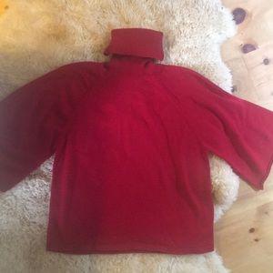 Eileen Fisher Medium Red Turtleneck Sweater